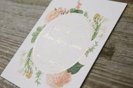 wedding invitations gold foil gold foil botanical wedding invitations figura
