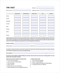 sample time sheet template 21 free documents download in pdf