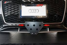 audi rs7 front 2014 2016 audi rs7 release front license plate bracket