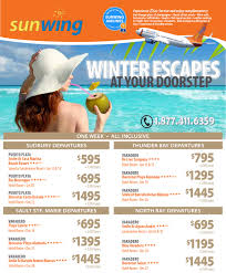 sunwing vacations winter escapes with sunwing vacations winter