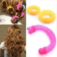 girls hair rings images Girls curler hair curlers elastic ring bendy curler spiral curls jpg