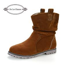 womens flat leather boots australia 2017 fashion boots autumn winter s casual