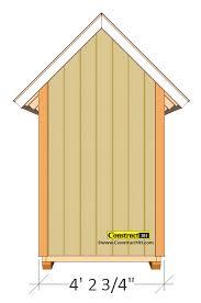 Garden Shed Plan Small Garden Shed Plans 4 U0027x4 U0027 Gable Shed Construct101