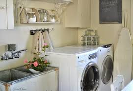 Vintage Laundry Room Decorating Ideas Vintage Laundry Room Decor With Vintage Storage And Sink