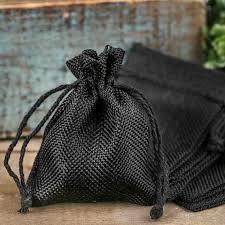 burlap drawstring bags black burlap drawstring favor bags bags basic craft supplies