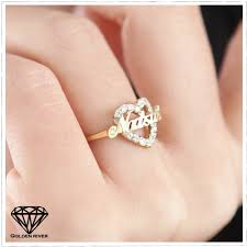 gold name ring k18 necklace goldenriver rakuten global market name ring initials