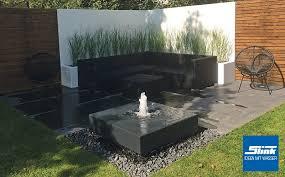 aluminium gartenbrunnen alumento 100 slink ideen mit wasser