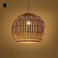 Wicker Pendant Light Bamboo Wicker Rattan Globe Pendant Light Fixture