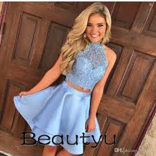 short party dresses for juniors homecoming 2018 cheap two piece a