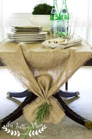 make christmas table runner easy no sew burlap table runner on sutton place