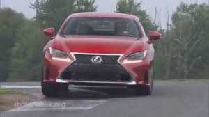 lexus coupe 2015 motorweek road test 2015 lexus rc sport coupe youtube