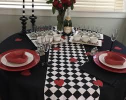Harlequin Home Decor Black And White Diamond Table Runner Harlequin Check Runner