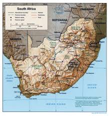 Map South Africa Large Detailed Political Map Of South Africa With Relief Roads
