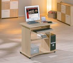 bureau ordinateur bois bureau informatique contemporain chêne sonoma sur roulettes turin