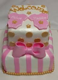 baby shower cakes 3 onesies cookies ruffles
