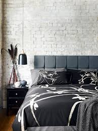 bedroom bedroom design with white bed and grey pillows also