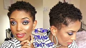 pixie hair do in twist natural hair 4c two strands twist out on a very short hair youtube