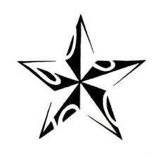 Nautical Star Tattoo Ideas Pictures Small Cute Tribal Nautical Star Tattoo Design