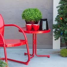 Patio Furniture Vintage - coral coast vintage retro steel side table u2013 patio accent tables