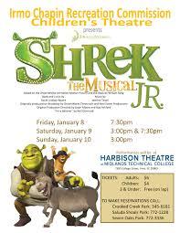 shrek jr musical harbison theatre midlands technical college