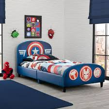 marvel avengers upholstered headboard and footboard twin bed