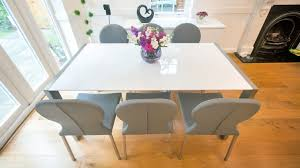 High Gloss Extending Dining Table Home Design Gloss Glass Extending Dining Table Chairs High