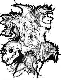 scary halloween skulls coloring pages adults eson