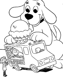clifford coloring pages ice cream coloring pages getcoloringpages ice cream truck