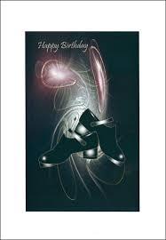 happy birthday card with irish jig shoe design with diamante