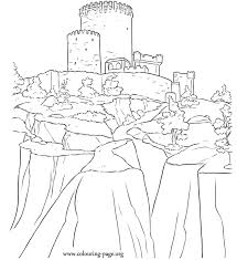 Brave Dunbroch Castle Disney Pixar S Movie Brave Coloring Page Disney Brave Coloring Pages
