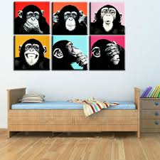 Home Decor Wall Paintings Online Buy Wholesale Monkey Art Prints From China Monkey Art