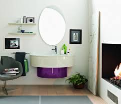 Specchio Per Bagno Ikea by Mobile Bagno Design Ovale Lavabo Sospeso Finitura Laccato Lucido E