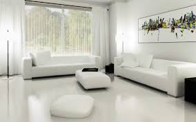 White Living Room Furniture by Hanging Lamp Soft White Fabric Riclining Sofa Cushions Flower Vase