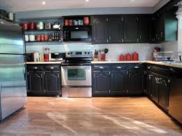Distressed Painted Kitchen Cabinets Diy Painted Black Kitchen Cabinets Caruba Info