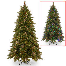 national tree company 7 5ft frosted frosted berry hinged tree with