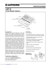 aiphone lef 5 manuals