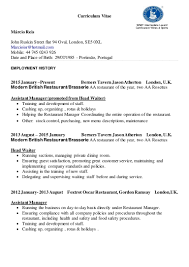 sample cover letter restaurant manager cover letter waiter image collections cover letter ideas