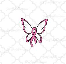 breast cancer ribbon butterfly svg cut file svg dxf png