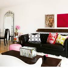 Black Sofa Living Room Black Leather Sofa Design Cool Black Living Room Home