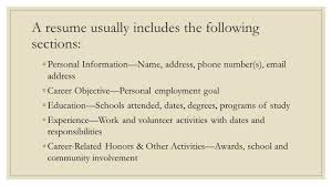 Resume Other Activities Applying For Employment Ppt Video Online Download