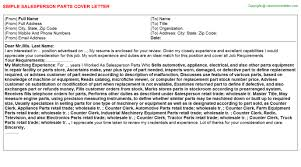 parts of cover letter parts specialist cover letters