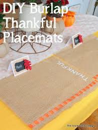 thankful placemats diy burlap placemats for thanksgiving the country chic cottage