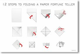 a fortune teller 12 steps to folding a paper fortune teller