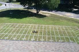 Football Field In Backyard Notre Dame Fan U0027s Yard Gets Transformed Into Fighting Irish