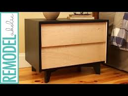 How To Make A Floating Nightstand Diy Mid Century Modern Nightstand Build With Diy Drawer Slides