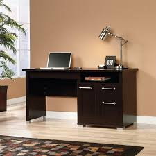 Sauder Registry Row Desk Sauder Select Jamocha Wood Desk Walmart Com