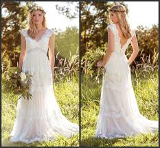 garden wedding dresses discount 2016 hippie garden wedding dresses v neckline