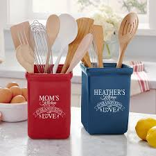 kitchen utensil canister personalized kitchen gifts from personal creations
