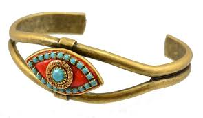 swarovski evil eye bracelet images Michal golan gold plated evil eye bangle bracelet in aqua jpg