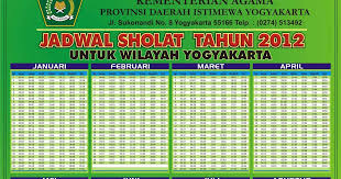 Jadwal Sholat Jogja Jadwal Sholat Sepanjang Masa Yogyakarta Sedikit Info